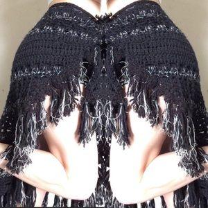 Hand Knit Sarong Shawl or waist my scarf